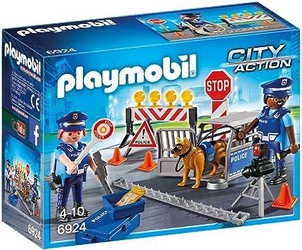 PLAYMOBIL City Action Control de Policía, A partir de 5 años (6924): Amazon.es: Juguetes y juegos