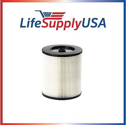 .com: lifesupplyusa filter to fit shop vac craftsman 17816, 9 ...