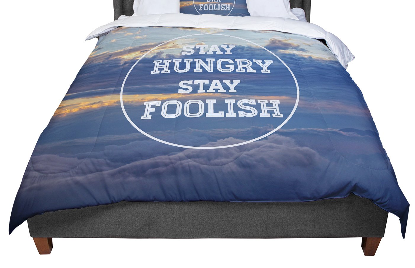 Cal King Comforter 104 X 88 KESS InHouse Skye Zambrana Stay Hungry King