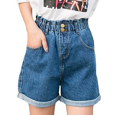 begrenzter Verkauf außergewöhnliche Auswahl an Stilen Schnäppchen für Mode NiSeng Damen Hohe Taille Breites Bein Kurze Hose Jeans ...