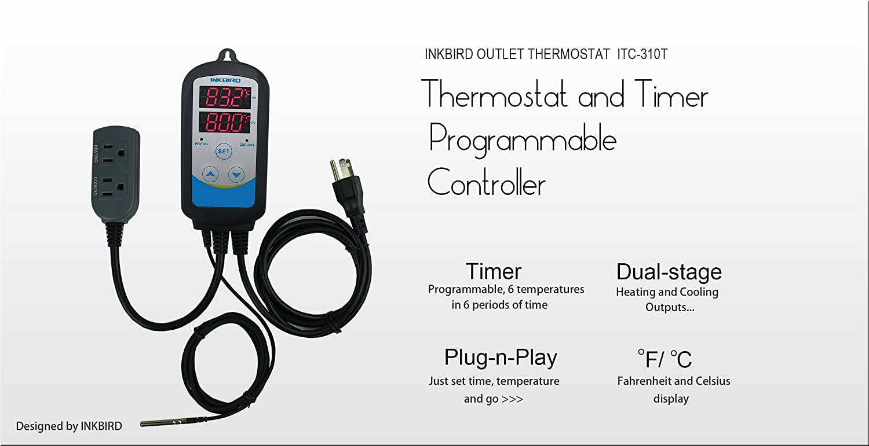 Amazon.com: Inkbird Itc-310T - Termostato digital de doble ...