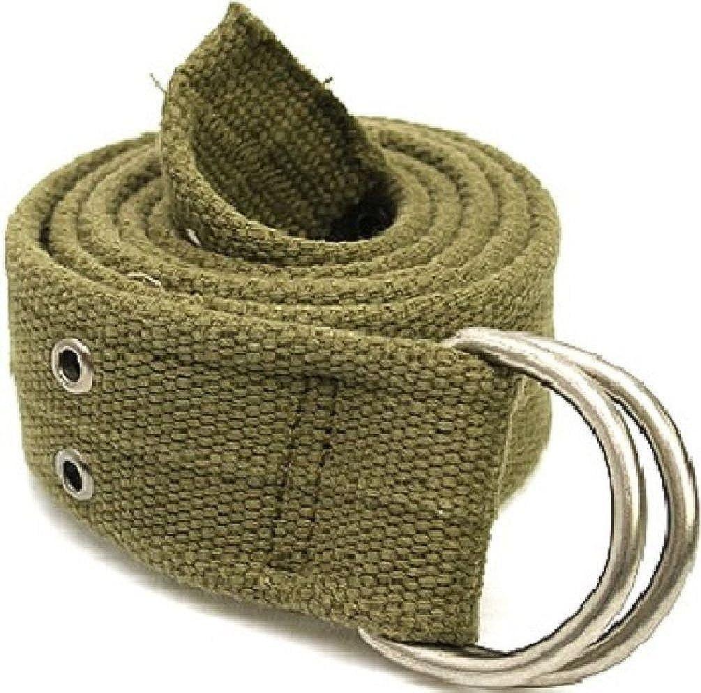 Web Belt 1.75 W Vintage Military D-Ring Cotton Web Belt Or Lashing Strap