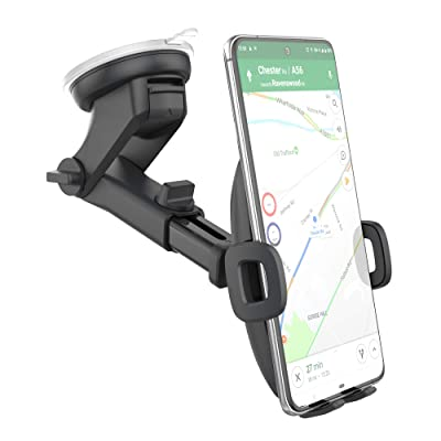 Encased Galaxy S10 Car Phone Holder (fits Samsung Models S10 S10+ S10e, S20, S20 Plus, S20 Ultra, Note 9, Note 10 Plus) - Dock Includes Dash & Window Mount (Case Friendly Design)