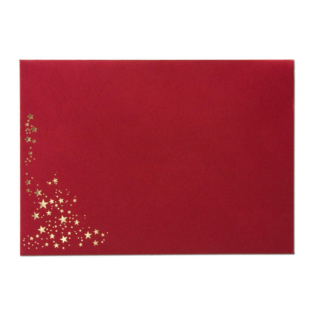 500x 500x 500x Weihnachts-Briefumschläge   DIN C5   mit Gold-Metallic geprägtem Sternenregen, festlich matter Umschlag in Sandbraun   Nassklebung, 120 g m²   157 x 225 mm   Marke  GUSTAV NEUSER® B01JJ766I4 | 2019  | Online Store  | Genial  68a4b3