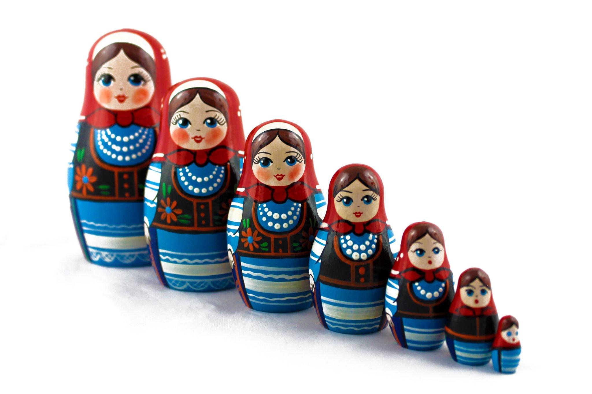 Matryoshka Polish National Dress Babushka Russian Nesting Wooden Stacking Doll 7 Pcs by MATRYOSHKA&HANDICRAFT (Image #8)