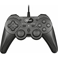Trust Ziva verkabelt Oyun padi PC ve PS3, Siyah