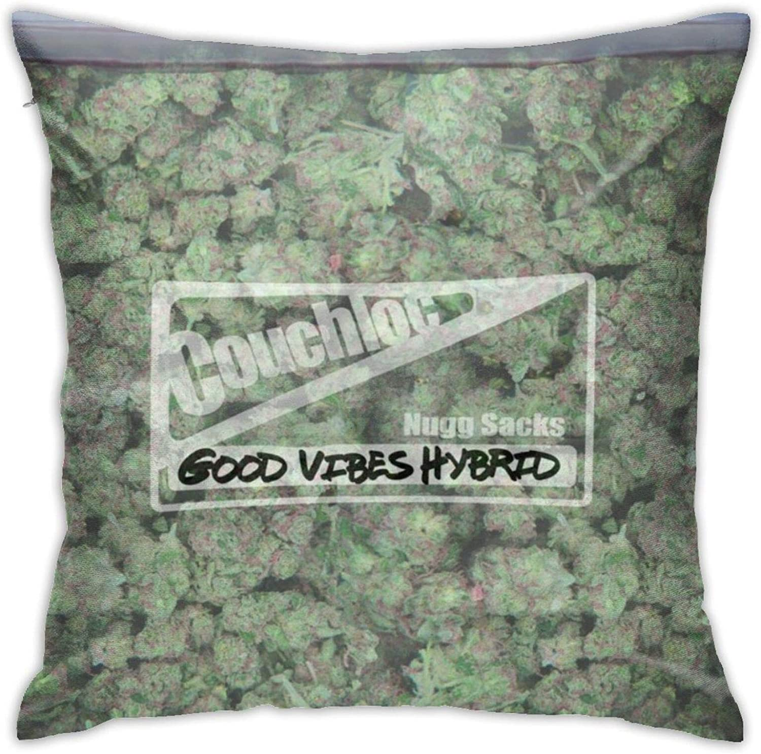 antoipyns Bag of Weed Throw 3D Printed Pattern Square Cushiondecorative Pillow Case Home Decor Square 18x18 Inches Pillowcase/Living Room/Car/Bedroom