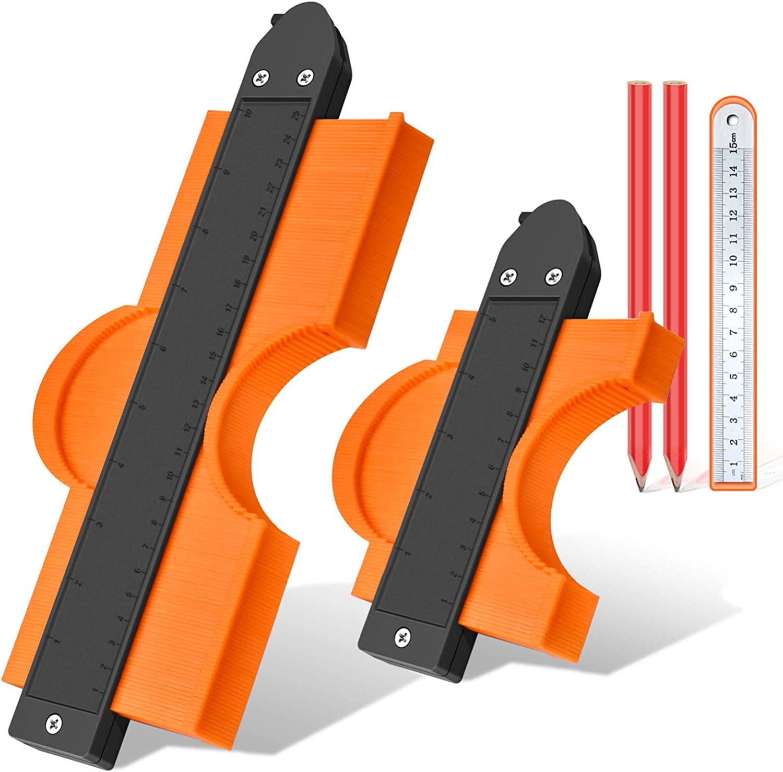 Contour Gauge Shape Measuring Set Saker Profile Tool Mark Cut Duplication Kit
