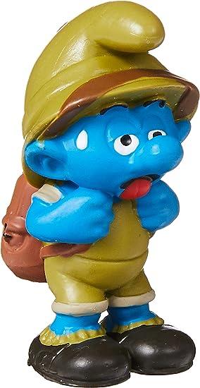 aventurier plastique figurine les schtroumpfs Schleich 20782 Jungle Schtroumpf