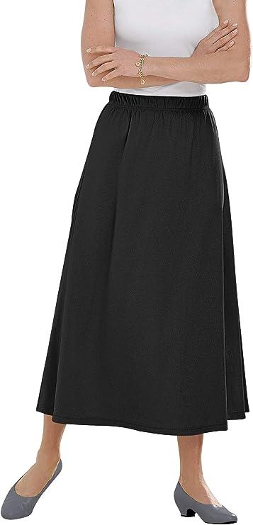Woman Within Plus M 14-16 Soft Cotton Blend Sport Knit Stretch Waist Skort