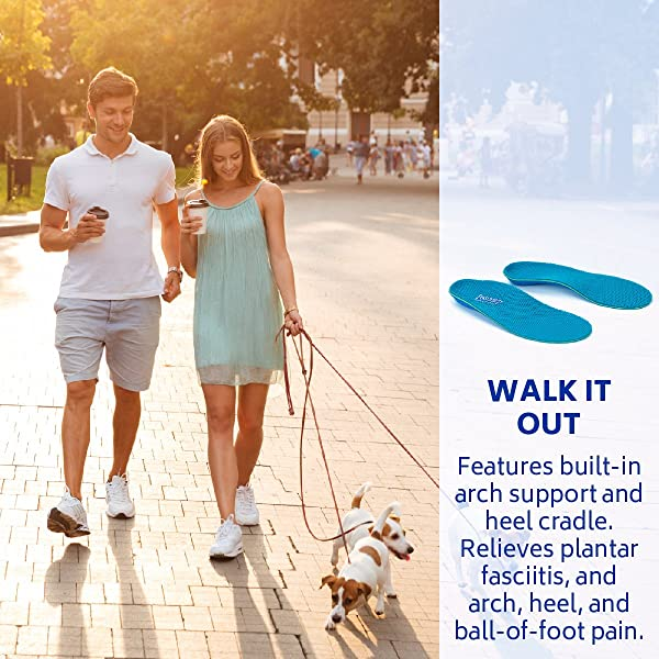 e376ffb883 ... Powerstep Pinnacle Shoe Insoles – Shock-Absorbing Arch Support and  Cushioning for Plantar Fasciitis ...