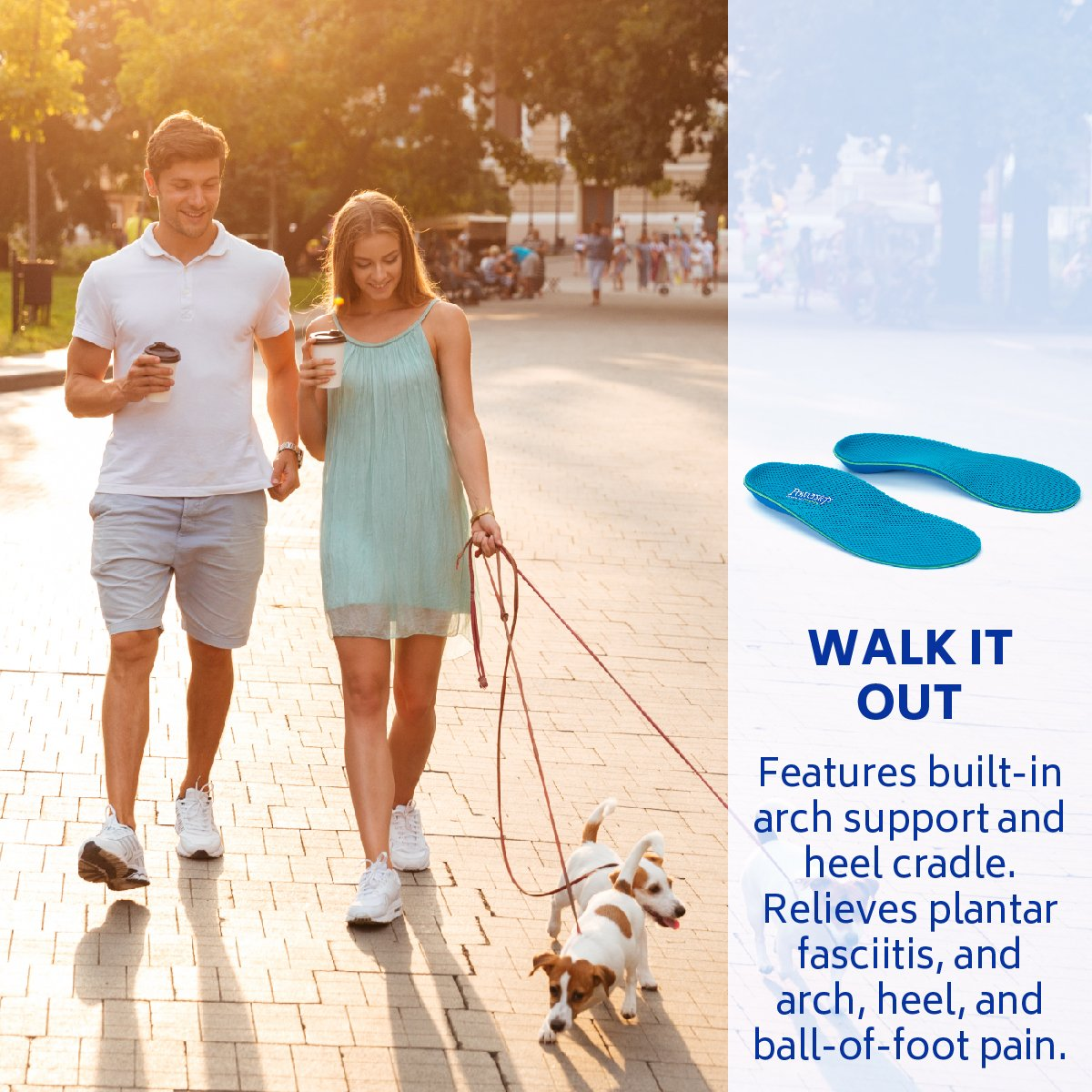 Powerstep Unisex-adult Pinnacle Breeze Shoe Insoles – Shock-Absorbing Arch Support and Cushioning for Plantar Fasciitis, Arch and Heel Pain, Flat Feet and Overpronation, Blue, Men's 7-7.5, Women's 9-9.5 by Powerstep (Image #5)