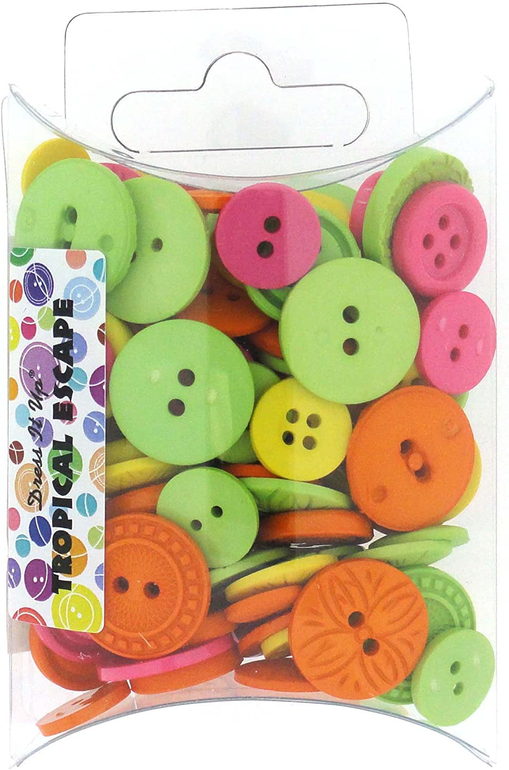 Jesse James Buttons ~ Dress It Up ~ COLOR ME LIME~ ROUND SEWING BUTTON