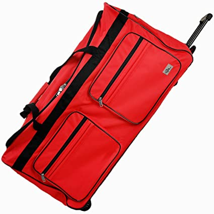 Deuba Travel Duffel Bag 160Liter Red Wheeled Luggage Castors Gym Sport  Camping Large Lightweight Telescopic Handle  Amazon.co.uk  Kitchen   Home ca86a711065d5