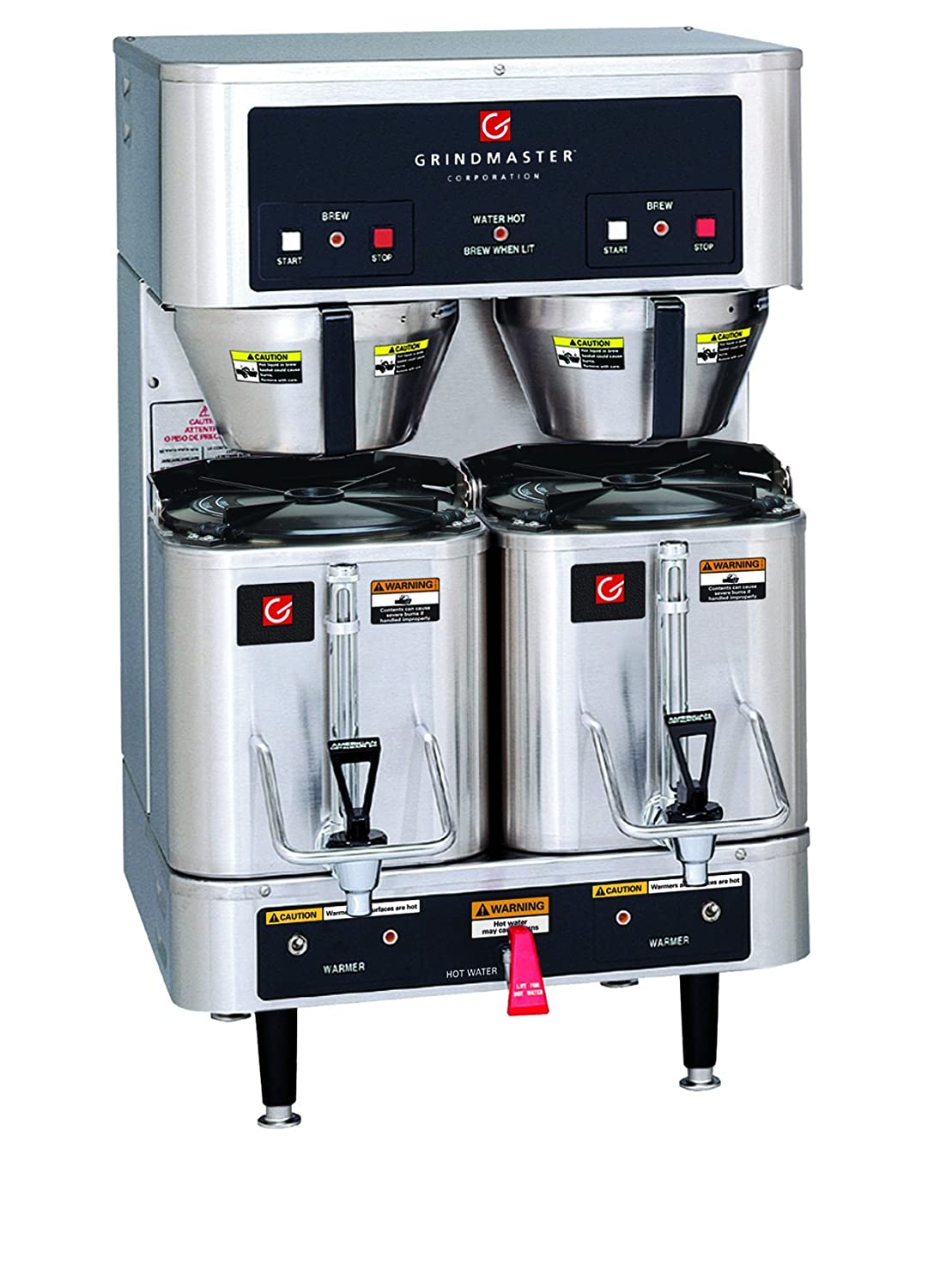 Grindmaster-Cecilware P400E 120/208 volt Dual Shuttle Brewer with 2 CS-LL Shuttle, 1.5-Gallon, Stainless Steel 71vvW6S9s9L._SL1500_