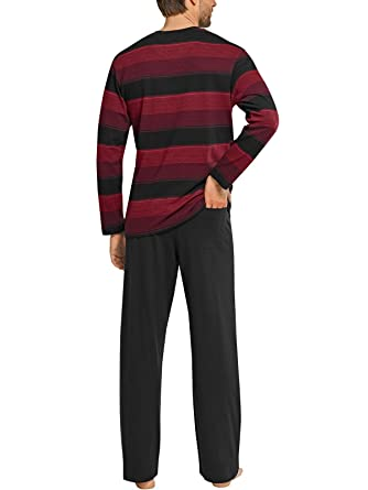 eeaa8b5ad3 Schiesser Herren Pyjama lang 154867, bordeaux, 56: Amazon.de: Bekleidung