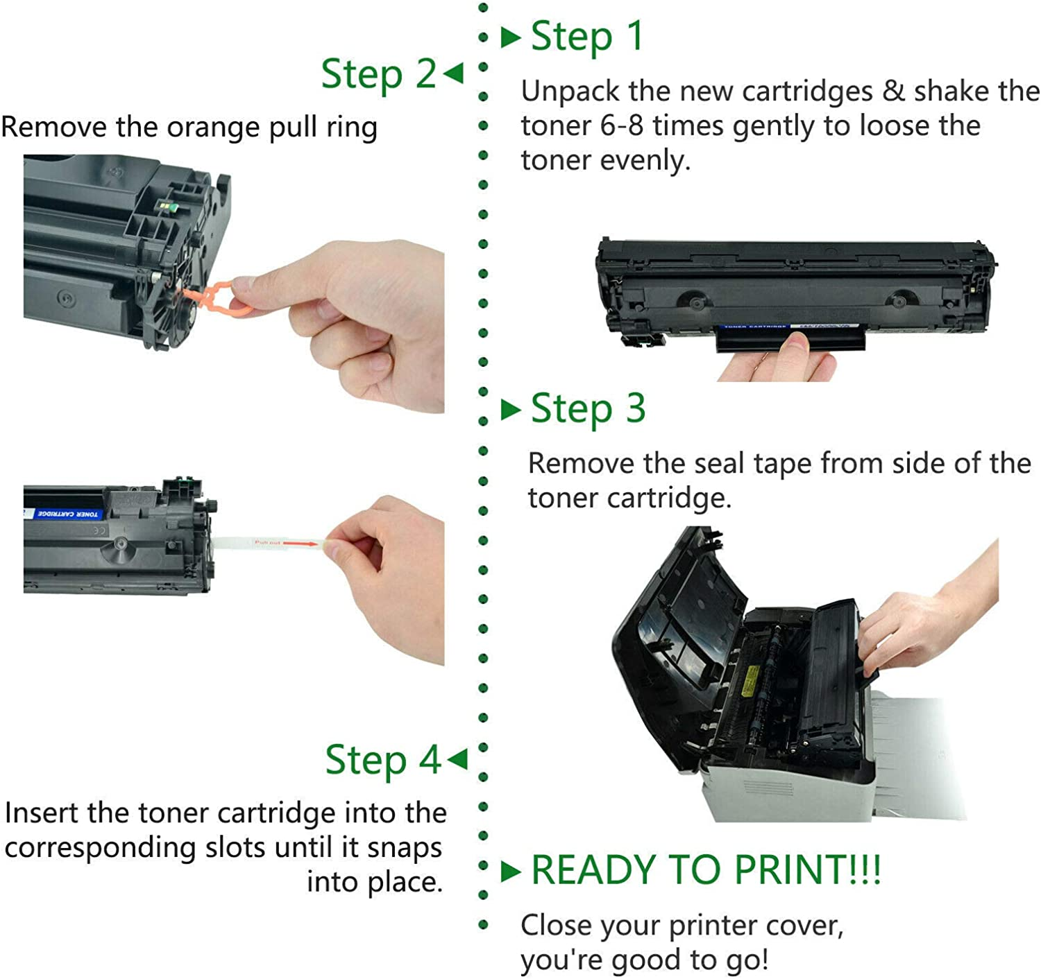 GREENCYCLE High Yield 14X CF214X BK Toner Cartridge Replacement Compatible for HP Laserjet Enterprise 700 M712dn M712n M712xh MFP M725dn MFP M725f MFP M725z MFP M725z Black,1 Pack Laser Printers