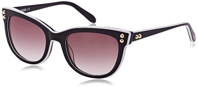 Womens Eye Sunglasses, Black (Bianco/Nero), 52 Moschino