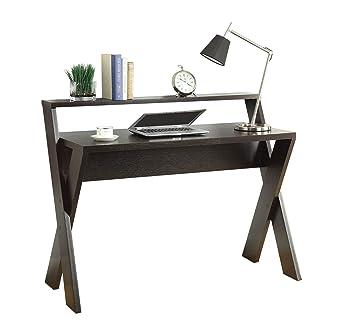 Convenience Concepts Modern Newport Desk With Shelf, Espresso