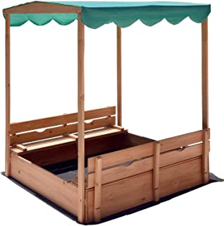 Naomi Home Kids Canopy Cedar Sandbox with 2 Convertible Benches  sc 1 st  Amazon.com & Amazon.com: Frame It All Telescoping Hexagon Sandbox Canopy and ...