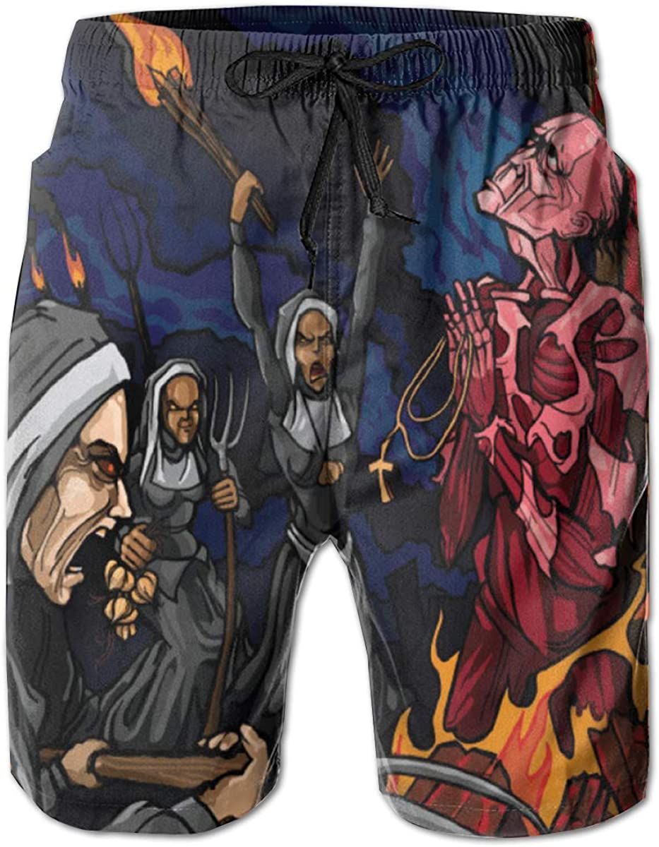 Mens Lamb of God Breathable Adult Drawstring Board Shorts