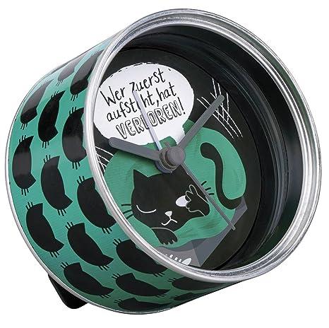 27415 - Despertador en Caja de Lata, diseño de Gatos: Amazon.es: Hogar