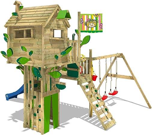 WICKEY Parque infantil de madera Smart Treetop con columpio y ...