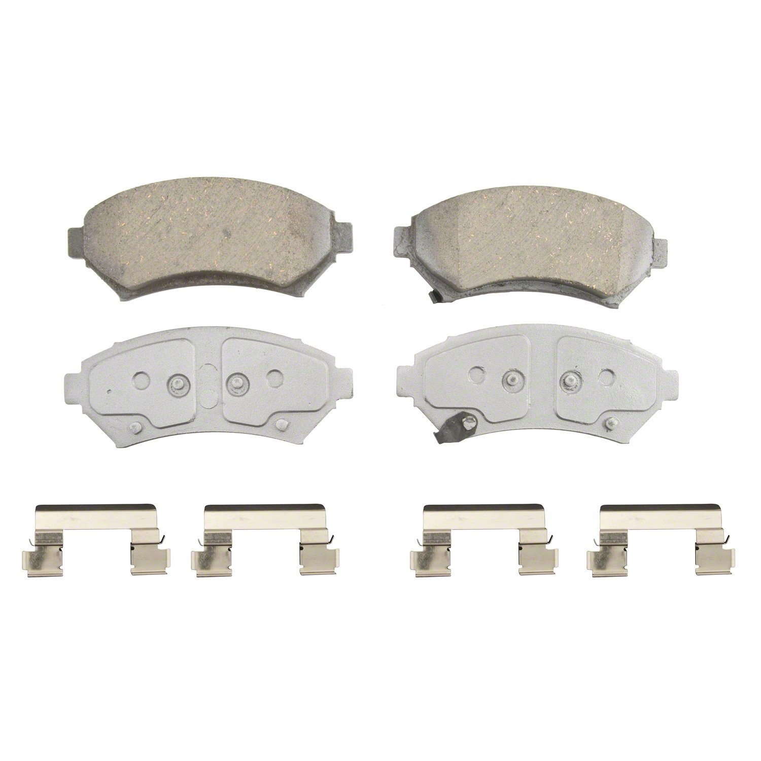 Front Wagner ThermoQuiet QC699 Ceramic Disc Pad Set With Installation Hardware