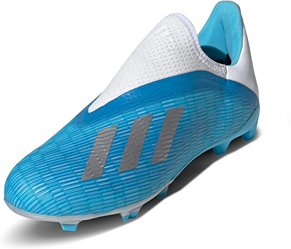 adidas Kids Boys X 19.3 Laceless Junior FG Football Boots ...