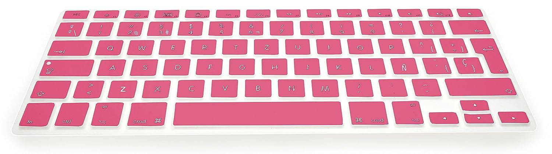 MyGadget Cubierta Teclado QWERTY Desde 2016 Blanco Skin Protector Keyboard Cover de Silicona TPU Espa/ñol para Apple MacBook Pro 13 15 Touchbar