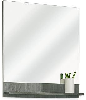 trendteam TB40101 Badspiegel mit Ablage Weiß Glanz, BxHxT 50x71x12 ...