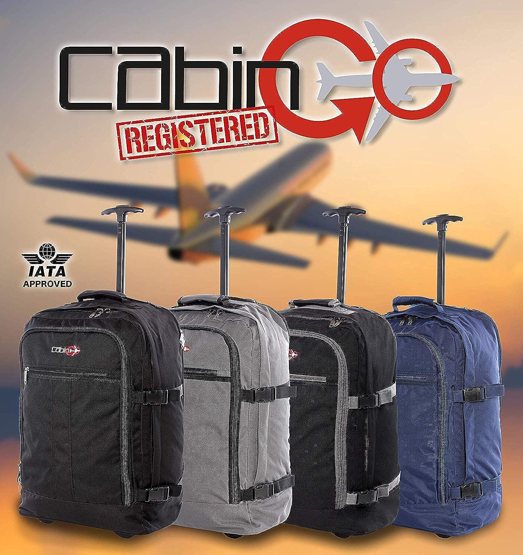 Chariot MAX 5520 44 litres - 55 x 40 x 20 cm Vol approuv/é IATA//EasyJet // Ryanair CABIN GO cod Sac /à dos pour bagage /à main//cabine de voyage l/ég/ère avec roues