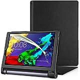 Lenovo YOGA Tablet 3-10 Hülle, EasyAcc Case Cover Tasche Etui - Folio Kunstleder Schutzhülle mit Auto Sleep / Wake geeignet für Lenovo Yoga 3-10 25,65 cm (10,1 Zoll HD IPS) Tablet , Schwarz
