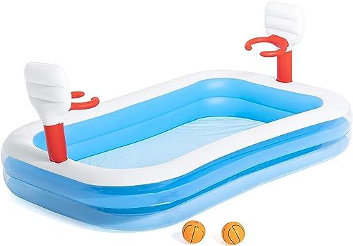Piscina Hinchable Infantil con Canastas Baloncesto Bestway Basketball 254x168x102 cm: Amazon.es: Juguetes y juegos