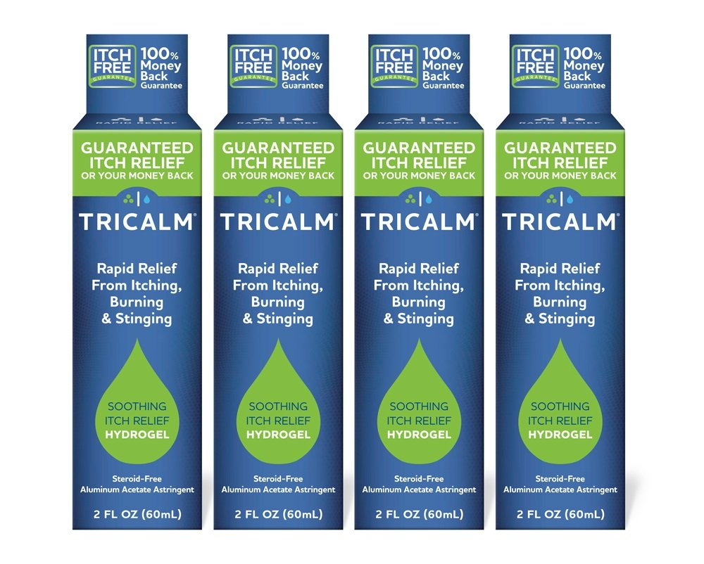 TriCalm Soothing Itch Relief Hydrogel 2 oz, 4 Count by TriCalm