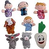 【ノーブランド品】指人形 フィンガーパペット クリスマス 家族みんなで指人形 物語 童謡 おとぎ話
