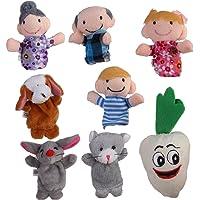 8pcs Juguete Marioneta de Mano Títeres de Dedos