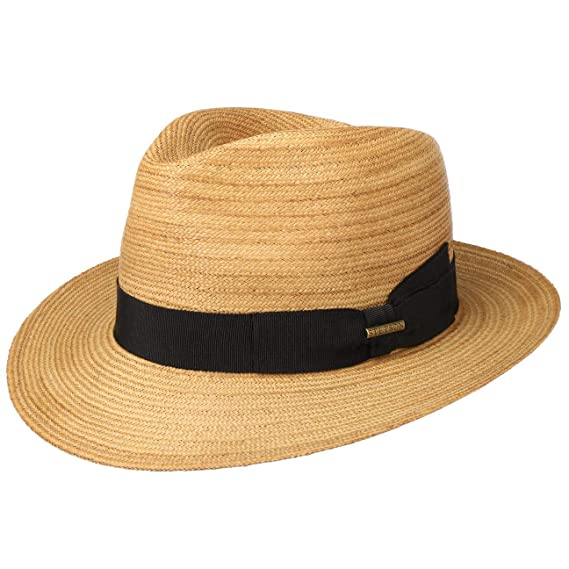 00d5522e432 Stetson Rye Straw Fedora Hat Sun Beach (S (54-55 cm) - Nature ...