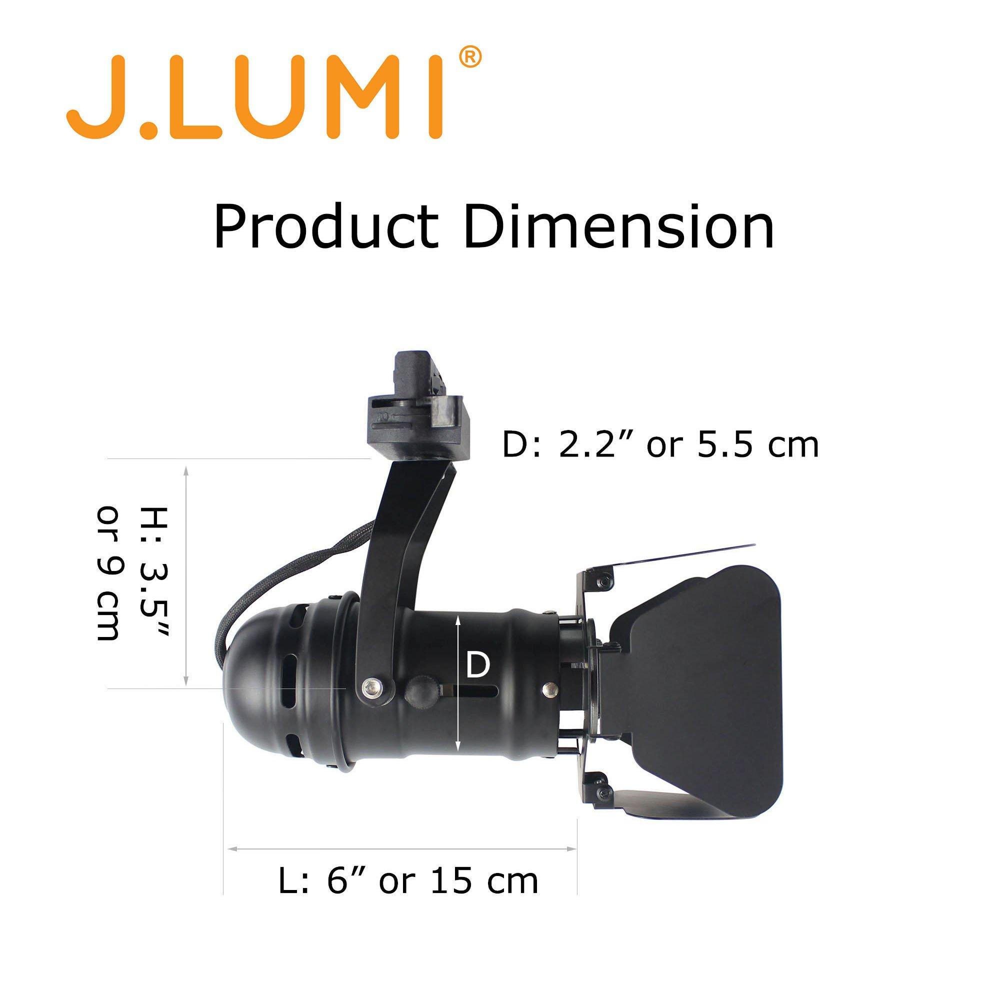 Home Theater Lighting Fixtures: J.LUMI TRK9601 LED Track Lighting Fixture (4-Leaf) Modern