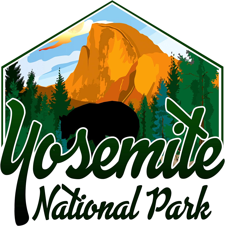 Vincit Veritas Yosemite National Park Decal Sticker Car RV Car Bumper US Travel Design S024