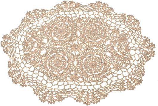 Kesheng Tapete Crochet para Mesa Camino Mesa Encaje Floral Vintage ...