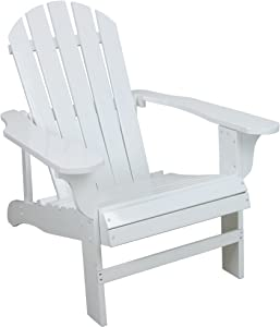 Leigh Country White Adirondack Chair for Patio, Deck or Yard