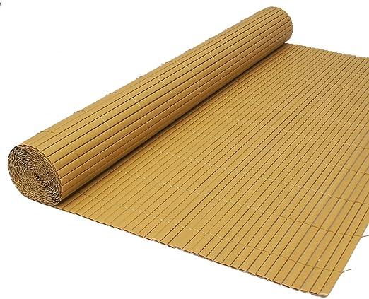 True Products Artificial Dos Cara de caña de bambú jardín Valla Rollo privacidad 1,5 m de Alto x 4 m de Largo: Amazon.es: Jardín