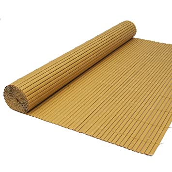 True Products Artificial Bamboo Cane Two Sided Garden Fence Roll