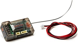 Spektrum SR6100AT 6-Channel DSMR DSM2 Receiver (RC Surface) with AVC and Telemetry: SPMSR6100AT, Black
