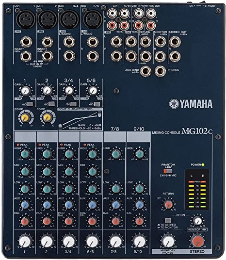 Yamaha MG102 C consola de mezcla de audio: Amazon.es: Instrumentos ...