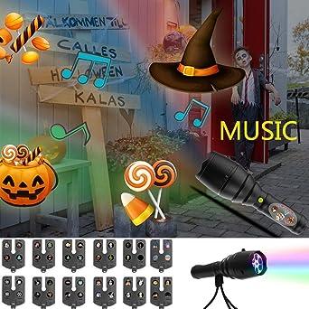 Proyector para niños Linterna 8 Música Fondo Proyector Linterna ...