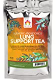 Shifa Lung Support Tea (Turmeric and Rooibos): Fortify and Cleanse Lungs with Anti-inflammatory Herbs, Phytonutrients and Antioxidants — 1.75oz.