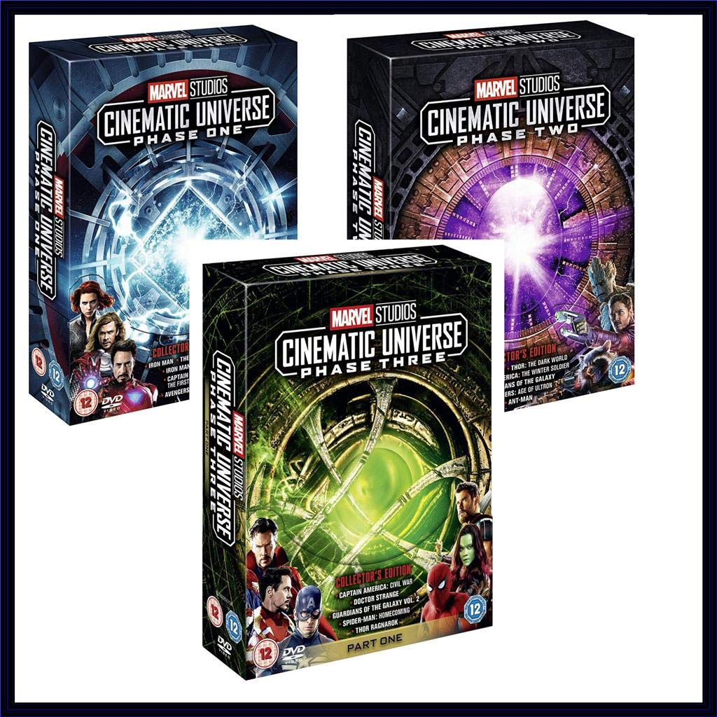 Amazon Com Marvel Cinematic Universe Phase One Two And Three Marvel 17 Movies Blu Ray Set Movies Tv