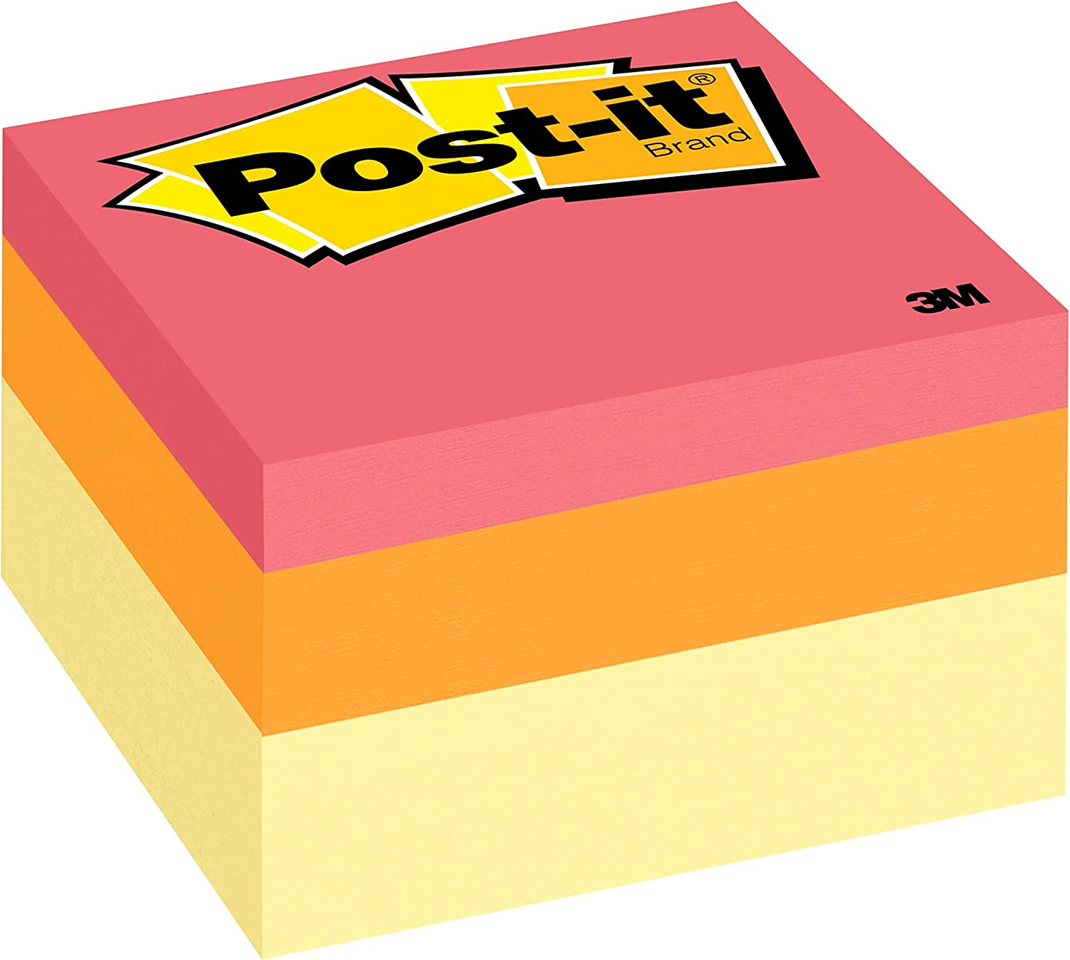 Post-it Notes, 3x3 in, 1 Cube, America's #1 Favorite Sticky Notes, Canary Wave, Clean Removal, Recyclable (2053-AU)